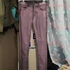 Divided by H&M purple acid washed jeans size 8